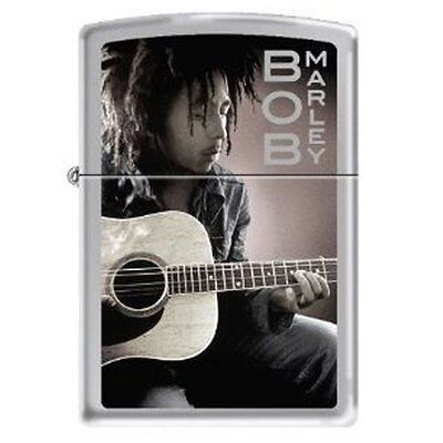 "Zippo ""Bob Marley & Guitar"" High Polish Chrome Lighter - Windproof - NEW"