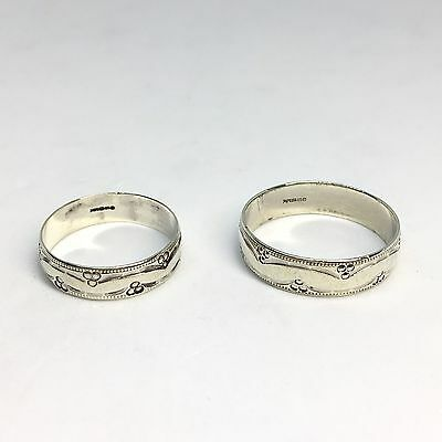 His & Hers 9ct White Gold Wedding Ring Bands