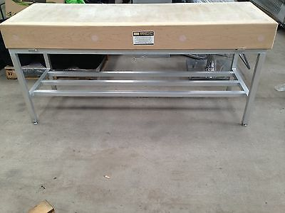 Row & Sons 6ft X 2ft X 7 Inch Wooden Butchers Block And Stainless Stand
