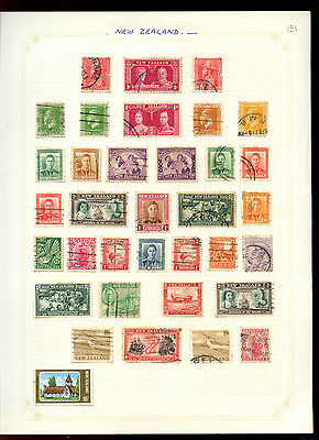New Zealand Album Page Of Stamps #V5012