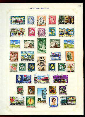 New Zealand Album Page Of Stamps #V5014