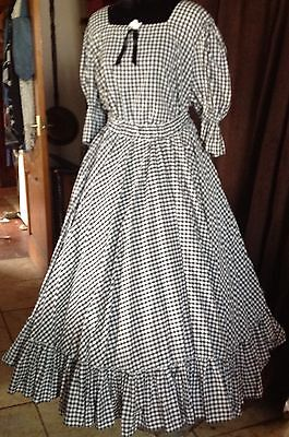 Ladies Two Piece Check Suit Western Period Re-enactment