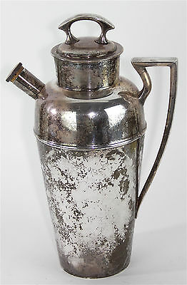 Antique Vintage Derby S.P. Co. Silverplate Cocktail Shaker / Pitcher, Style 1904