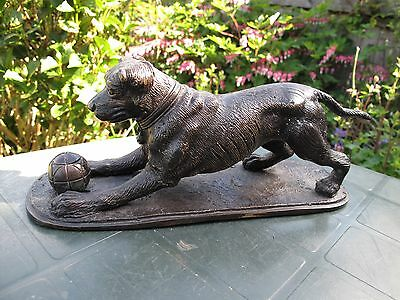 Bronze Figure Of A Dog With A Ball P J Mene Marked