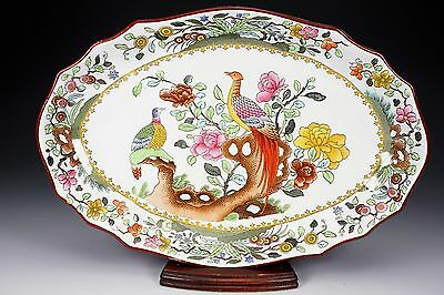 Antique Copeland Spode 2 5660 Pheasant Oval Vegetable Bowl