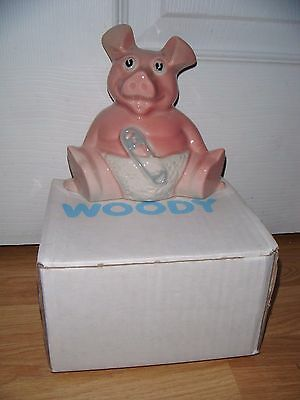 Wade NatWest Pigs WOODY 1980's With Original Stopper ~ In Original Box ~ Mint