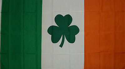 IRISH SHAMROCK CLOVER LEAF IRELAND ST PATRICKS DAY FLAG NEW 3x5ft