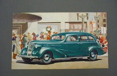 "Vintage 1937 CHEVROLET SEDAN ""The Complete Car Completely New"" Postcard"
