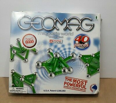 GeoMag Magnetic Construction Toy 40 Piece Swiss Made