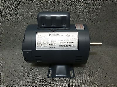 New 1/2 Hp Electric Motor 1725 Rpm 110/220 Continous Duty United Power Equipment