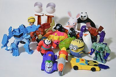 McDonalds Happy Meal Toys - Misc Lot of 17 figures - Good Condition