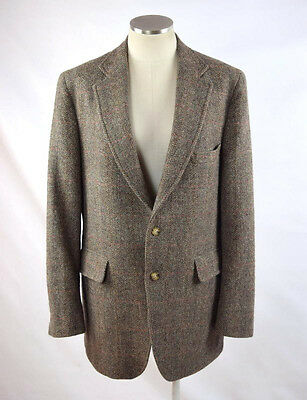 Vtg DONEGAL THE REAL MAGEE Green Red Wool Tweed Blazer Suit Jacket Sport Coat 42
