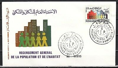 Morocco, Scott cat. 536. National Census issue. First day cover.