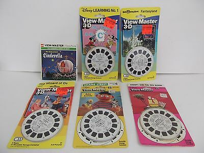 VTG VIEWMASTER Reels New NIB Disney Wizard Of Oz Cinderella Snoopy Sesame Street