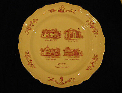 Wedgwood Limited Edition Plate Quincy Heritage Ma City of Patriots No; 31of1200