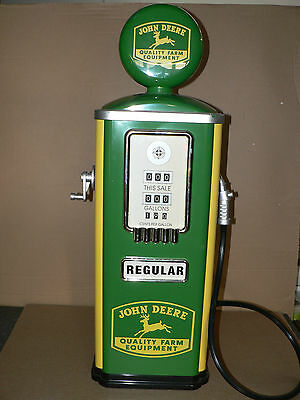 "Gearbox John Deere Tokheim Gas Pump 32"" Vintage Metal Filling Station Pump Signs"