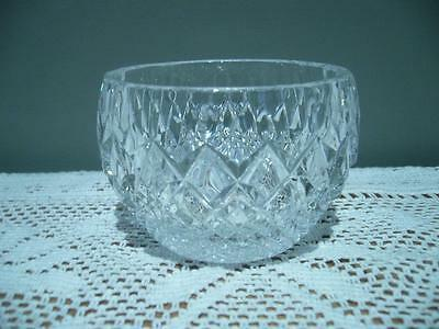 Vintage Crystal Small Open Sugar / Jam / Relish Bowl - Very Good Condition
