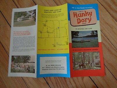 Brochure for Hunky Dory Resort Balsam Lake Wisconsin Lake Clare