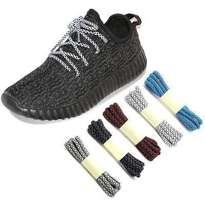 3M Reflective Round Sneakers Shoelaces Sport Outdoor Running Athletic Rope Laces