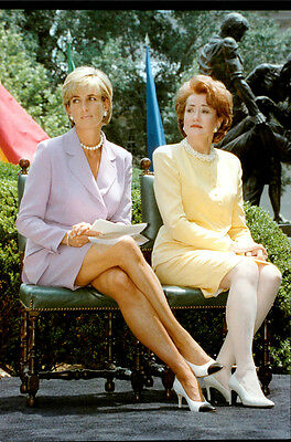 Vintage photo of Princess Diana together with Elizabeth Dole, President of the R