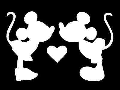 Mickey and Minnie Mouse Vinyl Decal Car Truck Window Sticker CHOOSE SIZE COLOR