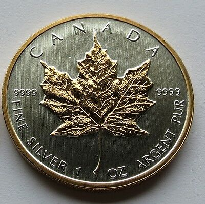 2013 Silver Maple Leaf 1 oz with  24k Gold Select