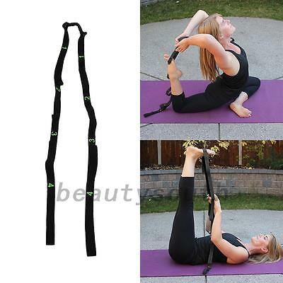 25CM Sport Yoga Stretch Strap Belt Gym Waist Leg Fitness Adjustable Belt