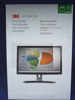 "New 3M Anti-Glare Filter for 24"" Monitor 16:10 Ratio AG240W1B"