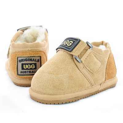 Originals Ugg Australia Sheepskin Slipper Baby Toddler Walker Boy Girl Nonslip