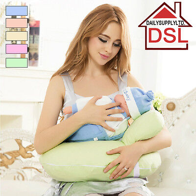 Baby Feeding Nursing Pillow Multiuse U-Shape Adjustable Belt Support Free 5 Bibs