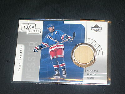 Mark Messier Rangers Legend Certified Authentic Upper Deck Game Used Stick Card