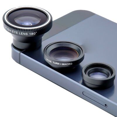Universal 3 in 1 Fish Eye Macro Wide Angle Camera Lens Kit For iPhone 6s/6