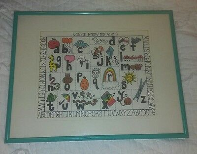 "Now I know my ABC's print signed 38/100  P. Leonard Art picture 11""x14"""