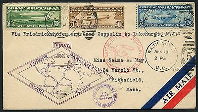#c13-C15 On One Cover Fdc & 1St Flt Zeppelin Cover Ext Rare Cv $12,500+ Wlm3533