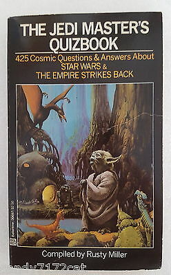 Book 1982 The Jedi Masters Quizbook Vintage Paperback 425 Questions and Answers