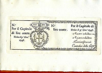 Italy, Kingdom of Sardinia,100 Lire, 1746, P-S101r, Huge
