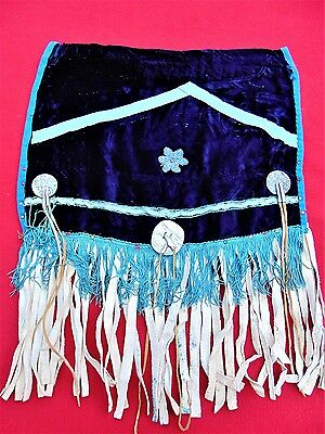 Vintage Native American Beaded Ceremonial Fringed Wall Hanging ~ Ranch Estate