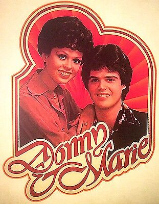 Vintage 1977 Donny And Marie Osmond Iron-On Transfer Osmond Family RARE!
