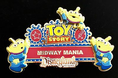 Disney Pin Toy Story Midway Mania Marquee Little Green Men Aliens Attraction