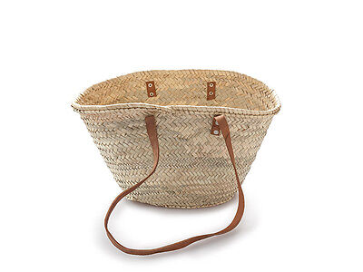 French market basket with long strap handles