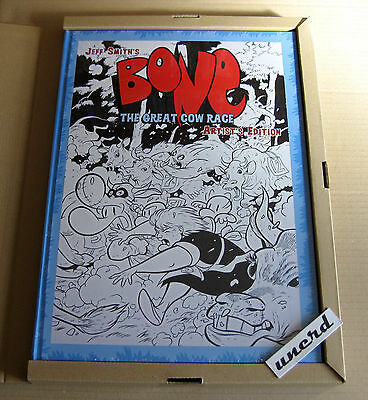 Artist's Edition: Jeff Smith's Bone Great Cow Race - IDW 1st Print, New + Sealed