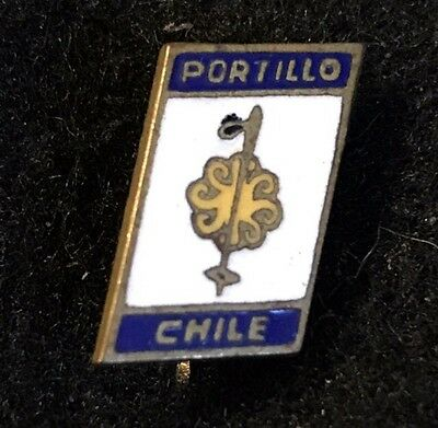 PORTILLO Skiing Ski Pin Andes Mountains CHILE Souvenir Travel South America