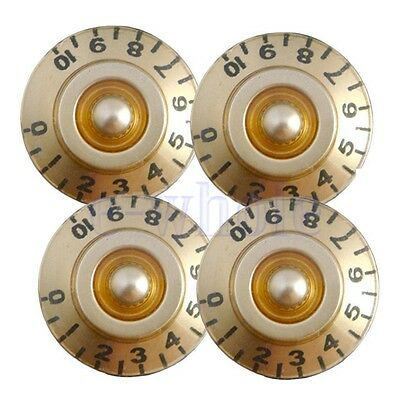 4 Pcs Golden Guitar Control Speed Tone Volume Knobs for Gibson Les Paul Parts TW