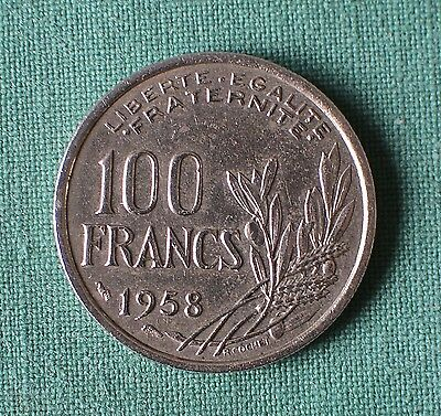 Nice 1958 French 100 Francs Coin
