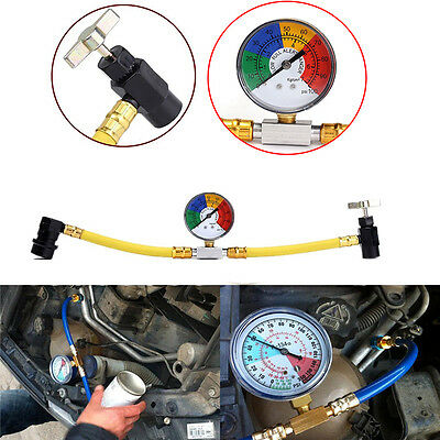 "1/2"" R134a Refrigerant Recharge Hose Can Tap Car Air Conditioning Pressure Gauge"