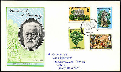 Guernsey 1975 Victor Hugo FDC First Day Cover #C41858