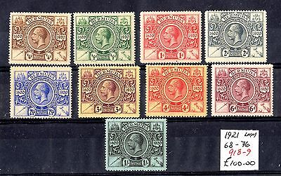 Bermuda KGV 1921 Set To 1/- SG68/96 Mint MLH X6848