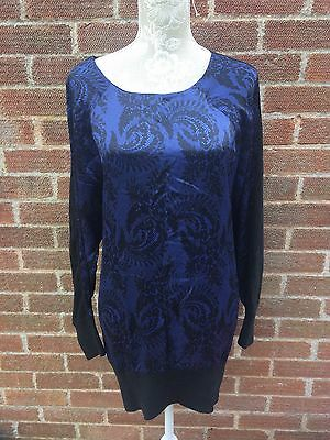 Seraphine Luxe Printed Silk Front Wool And Alpaca Maternity Jumper Size 12