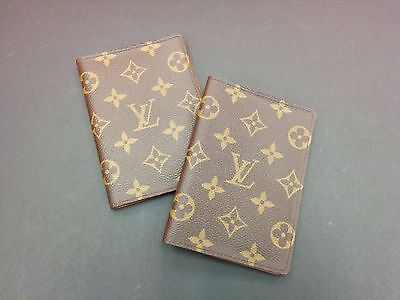 LV Vintage Passport Cover Travel a pair 2pcs Discontinued Model