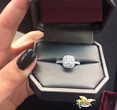 Solitaire 1.20 Ct D/VVS1 14K White Gold Wedding Bridal Diamond Engagement Ring